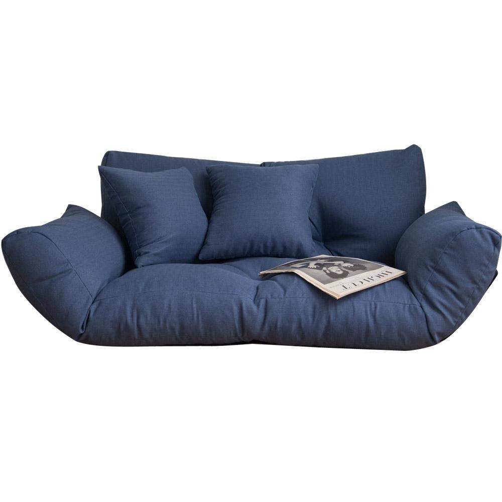 Home Feeling 激厚五段式雙人扶手沙發/和室椅/沙發床-116x62x46cm