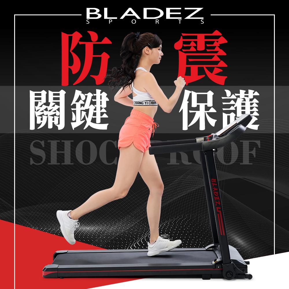 【BLADEZ】M7小妖機全摺疊跑步機/健走機(入門款高CP值/6顆防震球/馬達防過熱保護裝置)