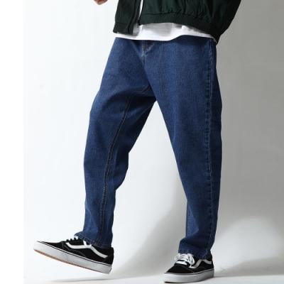 丹寧寬版錐形褲(7色) ZIP日本男裝