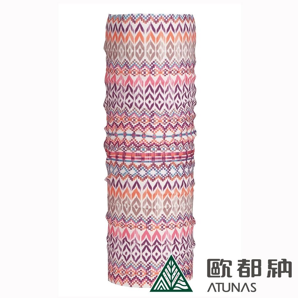 【ATUNAS 歐都納】COOLMAX防曬運動單車頭巾A1ACAA01N櫻花粉