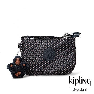 Kipling復古圖騰印花零錢包(中)