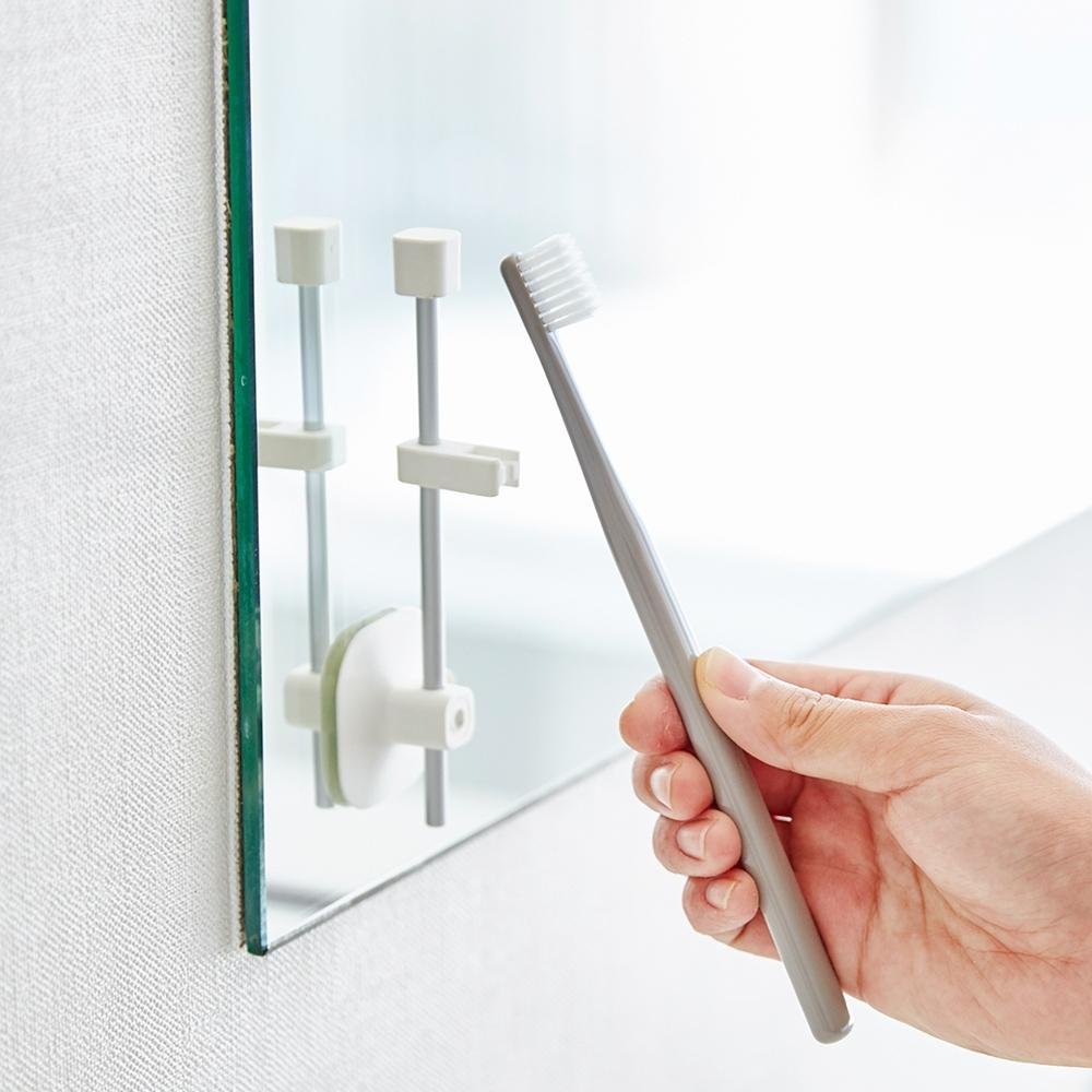 日本【YAMAZAKI】MIST吸盤式直立兩用牙刷架★日本百年品牌★衛浴收納/牙刷