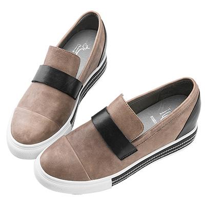 Robinlo & Co.仿舊復古牛皮休閒鞋 灰