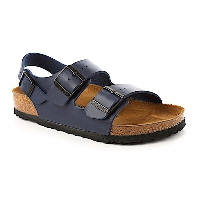 勃肯BIRKENSTOCK 034751。MILANO米蘭 繫踝二條拖鞋(藍色)