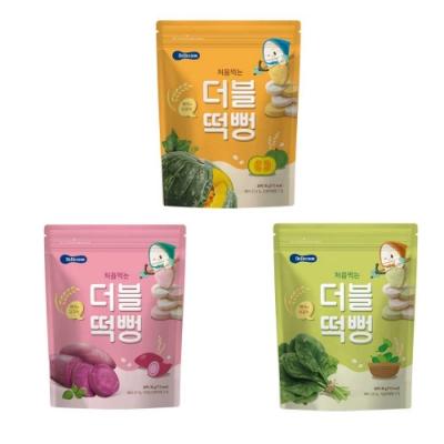 韓國 【BEBECOOK】 嬰幼兒雙色初食綿綿米餅#三入組