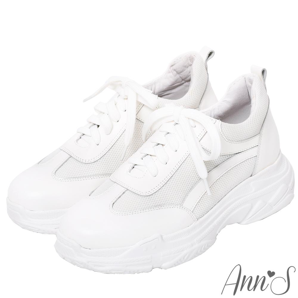 Ann'S魔術第四代微整細腿真皮老爹小白鞋-白(版型偏小)