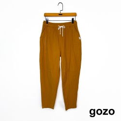 gozo-抽繩棉麻小腳褲-(二色)