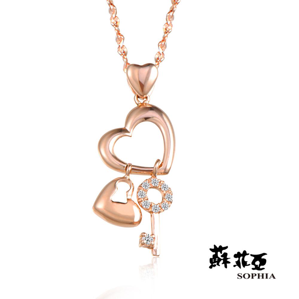 蘇菲亞SOPHIA - 菲比0.04克拉玫瑰金鑽鍊