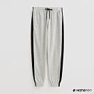 Hang Ten - 女裝 - 配色腰部抽繩鬆緊運動長褲 - 灰