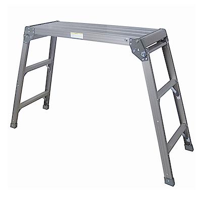 金德恩 台灣製造 特大型提把可攜式摺疊平台梯86x30x79cm