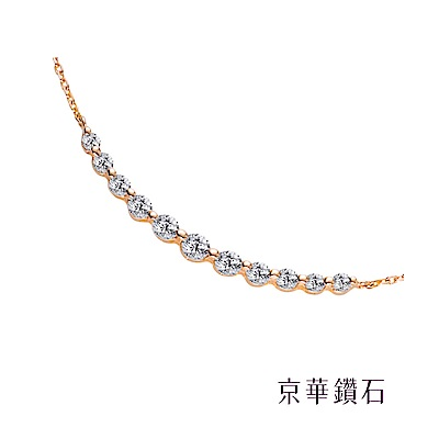 京華鑽石 18K鑽石項鍊 純真-玫瑰金