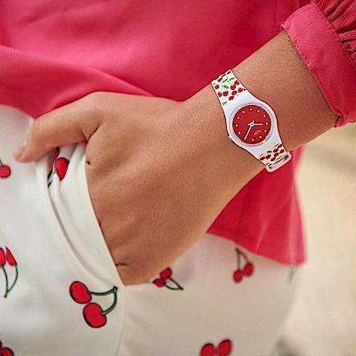 Swatch Energy Boost 系列 CERISE MOI 櫻桃甜果手錶-25mm