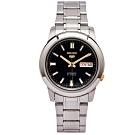 SEIKO 五號機機芯款機械手錶(SNKK17K1)-黑面x金色/37mm
