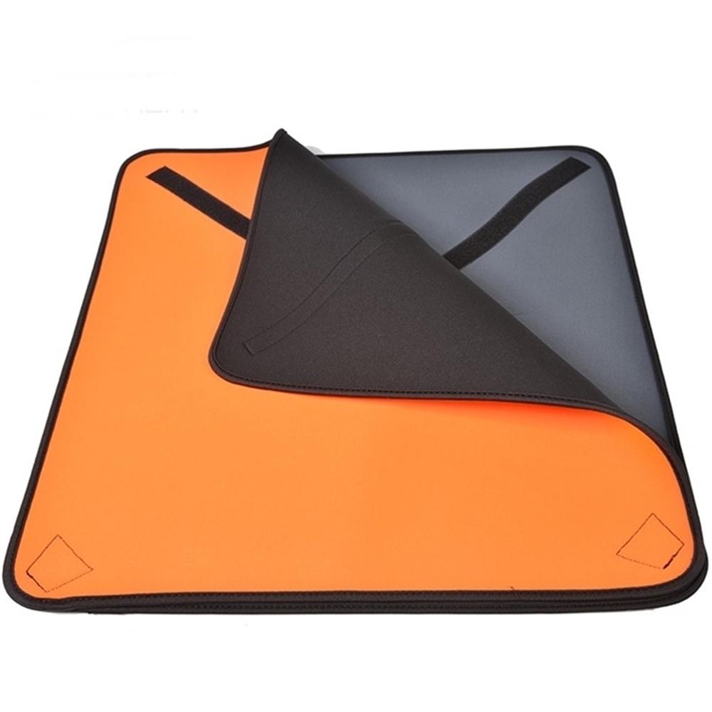 兩用相機包裹布 相機保護布百折布 相機布內膽布50x50cm(黑/灰;彈性潛水布;防撞防水布)