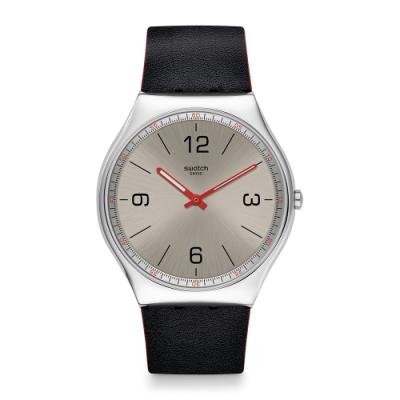 Swatch 超薄金屬系列 SKINMETAL 超薄金屬-質感銀-42mm