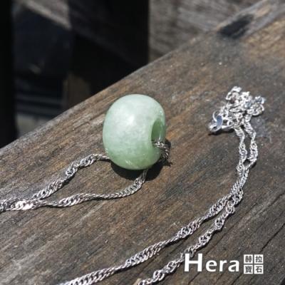 Hera 赫拉 頂級豆種天然緬甸玉古錢項鍊/鎖骨鍊