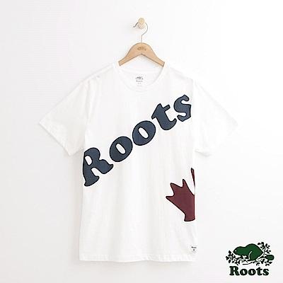 Roots 男裝-庫柏短袖T恤-白色