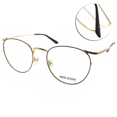 MOLSION 光學眼鏡 Angelababy代言 黑-金 # MJ7081 B12