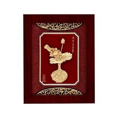 My Gifts 立體金箔畫-荷香蓮花(平安系列 27x34cm)