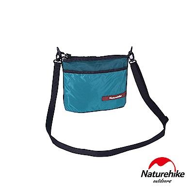 Naturehike 20D休閒輕量防水拼色斜肩背包 防盜包 側背包 深綠 轉