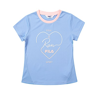 FILA KIDS 童抗UV吸濕排汗上衣-藍紫5TET-4315-VT