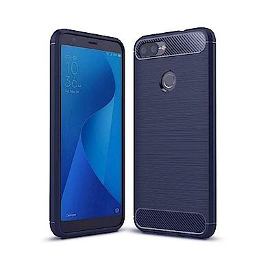 PKG 華碩 Zenfone MAX PLUS  M1手機殼-時尚碳纖紋路+抗指紋