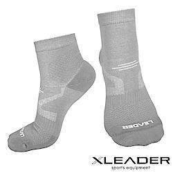 LEADER COOLMAX 運動專用薄型除臭機能襪 男款 灰色 - 快速到貨