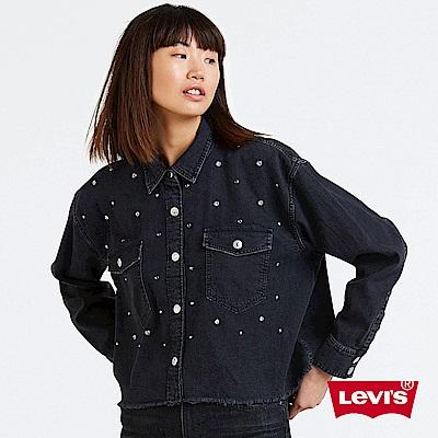 Levis 女款 牛仔襯衫 下擺不收邊 立體扣子設計