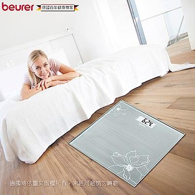 beurer 德國博依典雅花卉玻璃體重計 GS 10