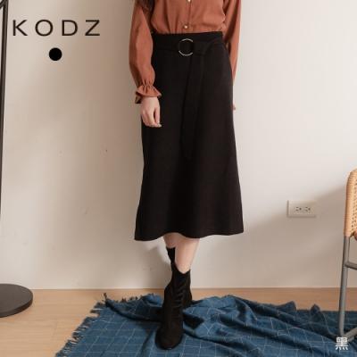 東東京著衣-KODZ 人氣商品造型釦環開岔坑條長裙