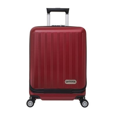 【OUTDOOR】-SMART高機能行動辦公室系列-前開式19吋登機箱-酒紅色 OD1819B19BD