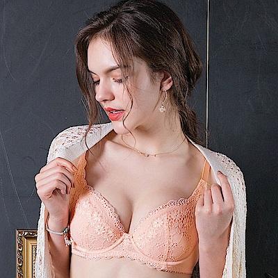 EASY SHOP-柔情蔓戀 大罩杯B-E罩成套內衣(粉膚橘)