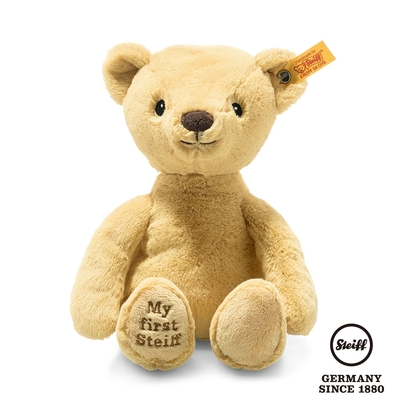STEIFF德國金耳釦泰迪熊  My first Steiff Teddy Bear  黃色小熊熊 (嬰幼兒玩偶)