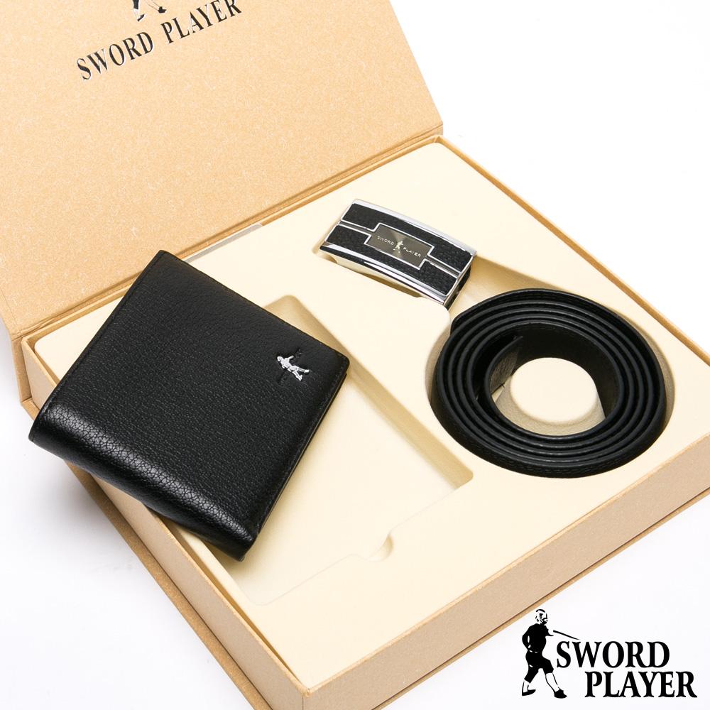 SWORD PLAYER - 莎普爾佩皮款真皮皮帶+10卡2照皮夾禮盒組