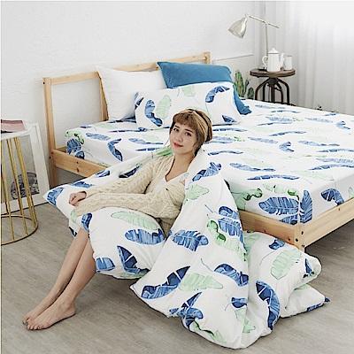 BUHO 雙人三件式床包枕套組(深氧之夏)