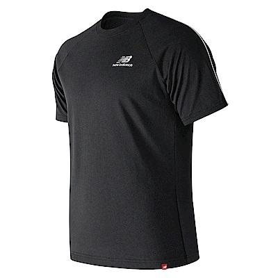 New Balance 經典條紋滾邊短袖T恤AMT91540BK_男_黑