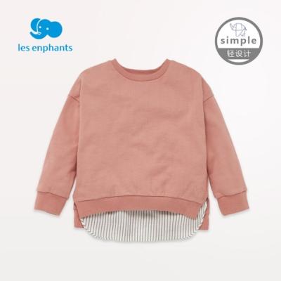 simple by lesenphants天絲圓領造型上衣- 灰粉色