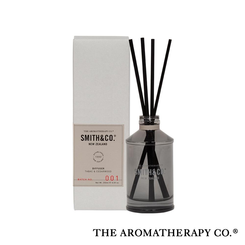 The Aromatherapy Co. 紐西蘭天然香氛 Smith & Co 系列 雪松皮革 Tabac and Cedarwood 250ml 居家擴香