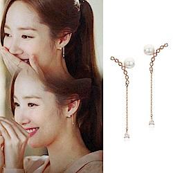 梨花HaNA   韓國925銀金秘書為何那樣微笑珍珠耳環