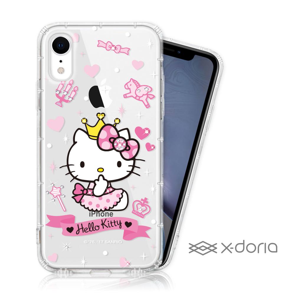 Hello Kitty iPhone XR 彩繪空壓手機鑽殼 - 仙女