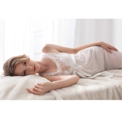 羅絲美睡衣花漾呢喃細肩帶洋裝