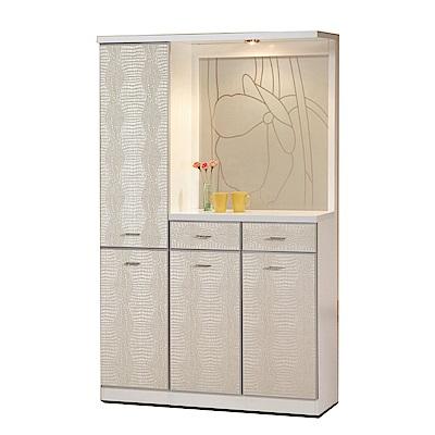 綠活居 潘柏4尺二抽屏風雙面櫃/玄關櫃(二色)-118.5x39x195cm-免組