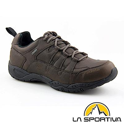 【ATUNAS 歐都納】LA SPORTIVA GORE-TEX真皮防水休閒鞋LA-13003棕