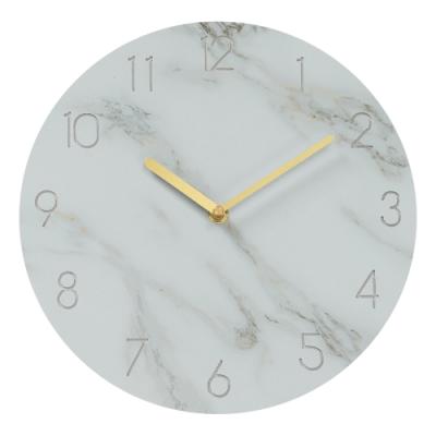 樂嫚妮 仿大理石紋掛鐘/時鐘/11吋/低噪-白