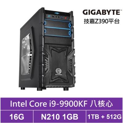 技嘉Z390平台[天璇槍兵]i9八核N210獨顯電玩機