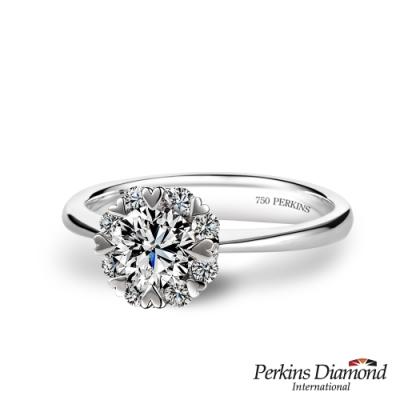 PERKINS 伯金仕 - Princess系列 0.50克拉 18K金鑽石戒指