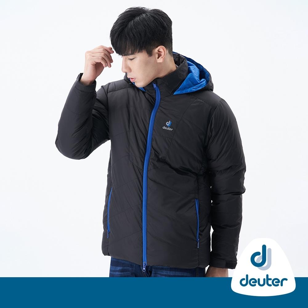 【deuter德國】男款超級保暖羽絨連帽外套DE-G1505M黑/防風/防潑水/保溫蓄熱/零碼出清