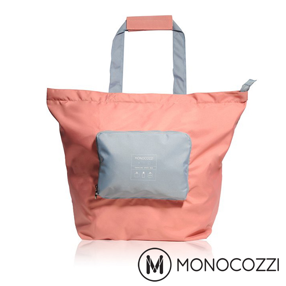 MONOCOZZI Bon Voyage 旅行折疊手提肩背包(L) - 珊瑚紅