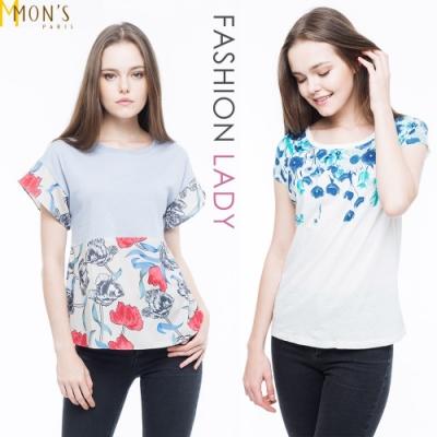 [時時樂限定]MONS棉麻精品上衣 (2選1-白色/藍色可選 )