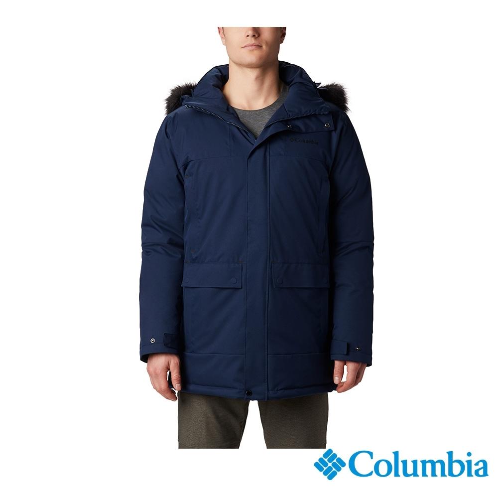 Columbia 哥倫比亞 男款- Omni TECH防水鋁點保暖羽絨外套-深藍